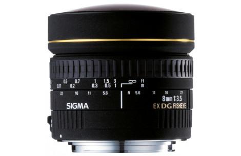 Sigma 8mm F3,5 EX Fisheye DG für Nikon