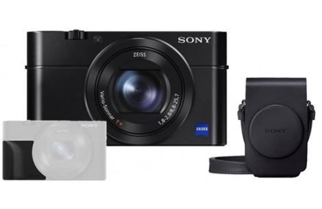 Sony Cybershot DSC-RX100 III Hard-Bundle incl. Tasche LCS-RXG +Griff AG-R2