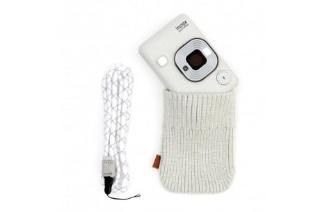 Fujifilm Instax LiPlay stone white Set incl. Kabel+NeckStrap+Socke