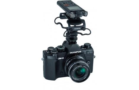 Olympus OM-D E-M5 Mark III 12mm F2,0 Vlogger-Kit, schwarz/schwarz + LS-P4