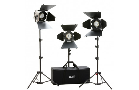 Hedler DX 15 Taglicht Kit inkl. Stative mit 3 Leuchten