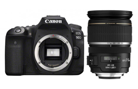 Canon EOS 90D Gehäuse + EF-S 2,8 / 17-55 mm IS USM