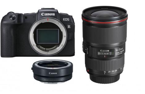 Canon EOS RP Gehäuse + Adapter EF-EOS R + EF 16-35/4.0 L IS USM