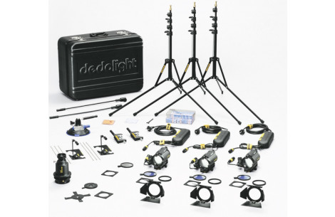 Dedo Weigert Kunstlicht Kit KA24M Master 150W 24V inkl. Koffer (Tungsten Kit)