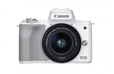 Canon EOS M50 Mark II Gehäuse - Weiss + EF-M 15-45mm f3.5-6.3 IS STM Kit