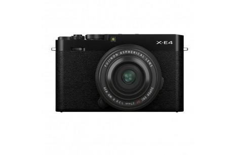 Fujifilm X-E4 Kit + XF 27/2,8 WR, schwarz / schwarz
