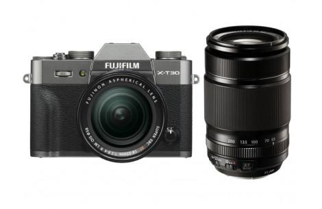 Fujifilm X-T30 Kit + XF18-55mm F2,8-4,0 R LM OIS + XF 55-200mm F3,5-5,6 Anthrazit