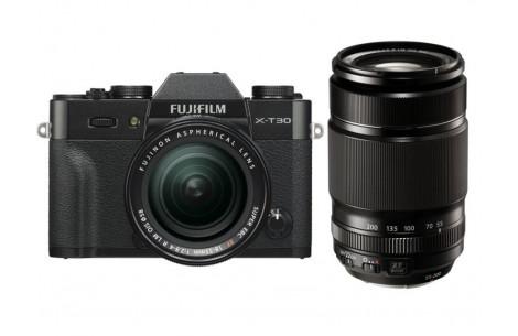 Fujifilm X-T30 + XF18-55mm F2,8-4,0 R LM OIS + XF 55-200mm Kit schwarz