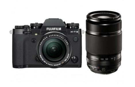 Fujifilm X-T3 Kit + XF18-55mm F2,8-4,0 R LM OIS + XF 55-200mm Kit F3,5-5,6 schwarz