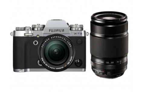 Fujifilm X-T3 Kit + XF18-55mm F2,8-4,0 R LM OIS + XF 55-200mm F3,5-5,6 Silber