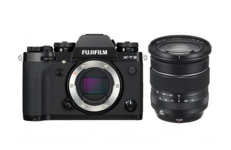 Fujifilm X-T3 schwarz + XF 16-80mm F4 R OIS WR