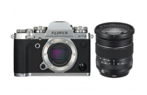 Fujifilm X-T3 silber + XF 16-80mm F4 R OIS WR