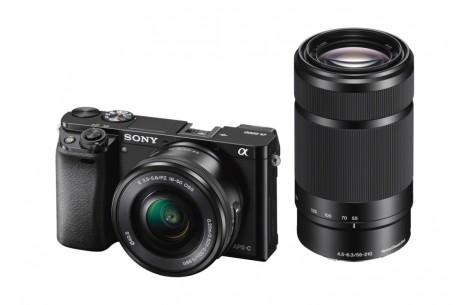 Sony Alpha ILCE-6000 Doppelzoom Kit schwarz + 16-50mm F3,5-5,6 OSS &  55-210mm F4,5-5,6 OSS
