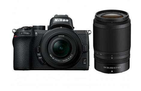 Nikon Z50 Kit + DX 16-50 mm 1:3.5-6.3 VR + DX 50-250 mm 1:4.5-6.3 VR - 150 EUR Sofortrabatt bereits abgezogen