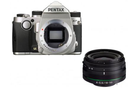 Pentax KP + 18-50mm WR silber