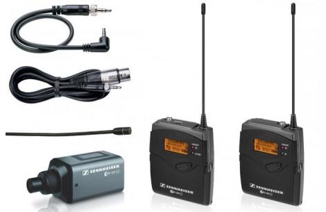Sennheiser EW 100 ENG A G3 P48 Profi-Set SKP-300 Mikroport Set mit Ansteckmikro und Plug On Sender