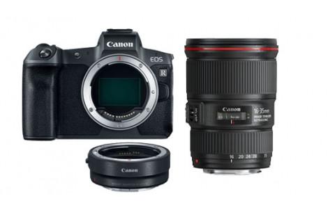 Canon EOS R Gehäuse + Adapter EF-EOS R + EF 16-35/4.0 L IS USM