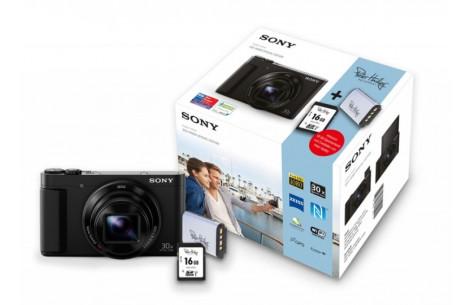 Sony Cybershot DSC-HX90V Set (inkl. 32GB SD + 2.Akku)