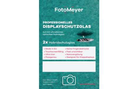 FotoMeyer 2x professionelles Displayschutzglas