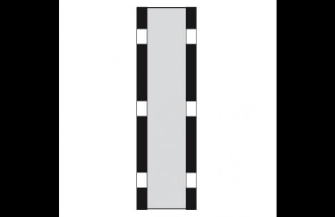 """Sun-STRIP PRO-14"""" KIT Zebra Gold/Silber-Rückseite weiss"""