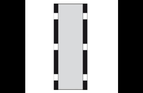 """Sun-STRIP PRO-21"""" KIT Silber-Rückseite weiss"""