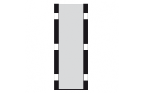 """Sun-STRIP PRO-21"""" KIT Zebra Gold/Silber-Rückseite weiss"""