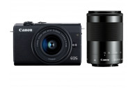 Canon EOS M200 Kit + EF-M 15-45mm F3,5-6,3 IS STM + EF-M 55-200mm IS STM schwarz