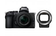 Nikon Z50 Kit + DX 16-50 mm 1:3.5-6.3 VR + FTZ Objektivadapter - 100 EUR Sofortrabatt bereits abgezogen