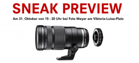 SNEAK PREVIEW DER OLYMPUS NEUHEITEN