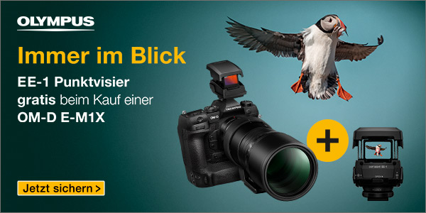 Foto Meyer Berlin Cashback und Sparaktionen:  OLYMPUS E-M1X ZUGABEAKTION