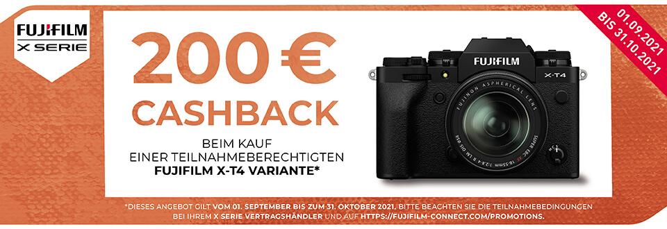 Foto Meyer Berlin Cashback und Sparaktionen:  FUJIFILM X-T4 CASHBACK