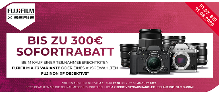Foto Meyer Berlin Cashback und Sparaktionen:  FUJIFILM X-T3/XF SOFORTRABATT