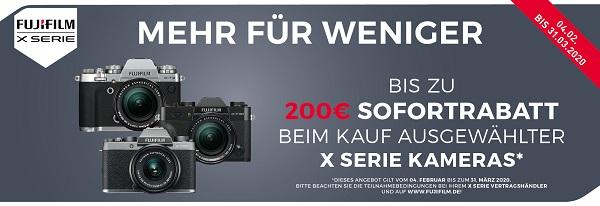 Foto Meyer Berlin Cashback und Sparaktionen:  FUJIFILM X SOFORTRABATT