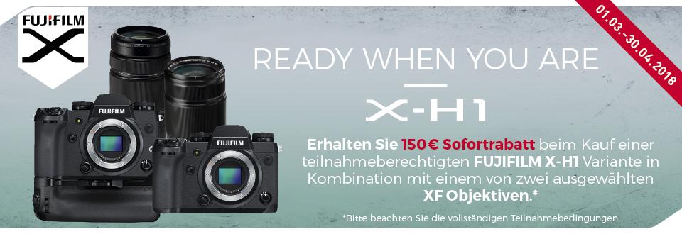 Foto Meyer Berlin Cashback und Sparaktionen:  FUJIFILM X-H1 SOFORTRABATT