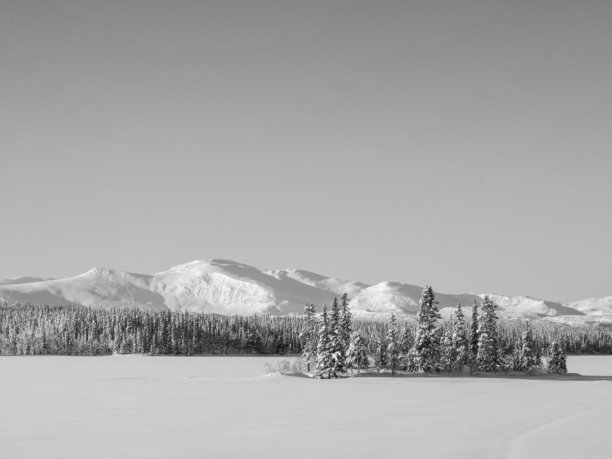 Lappland-einsamer-See