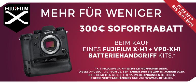 Foto Meyer Berlin Cashback und Sparaktionen:  FUJIFILM X-H1 AKTION