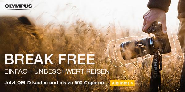 Foto Meyer Berlin Cashback und Sparaktionen:  OLYMPUS BREAK FREE