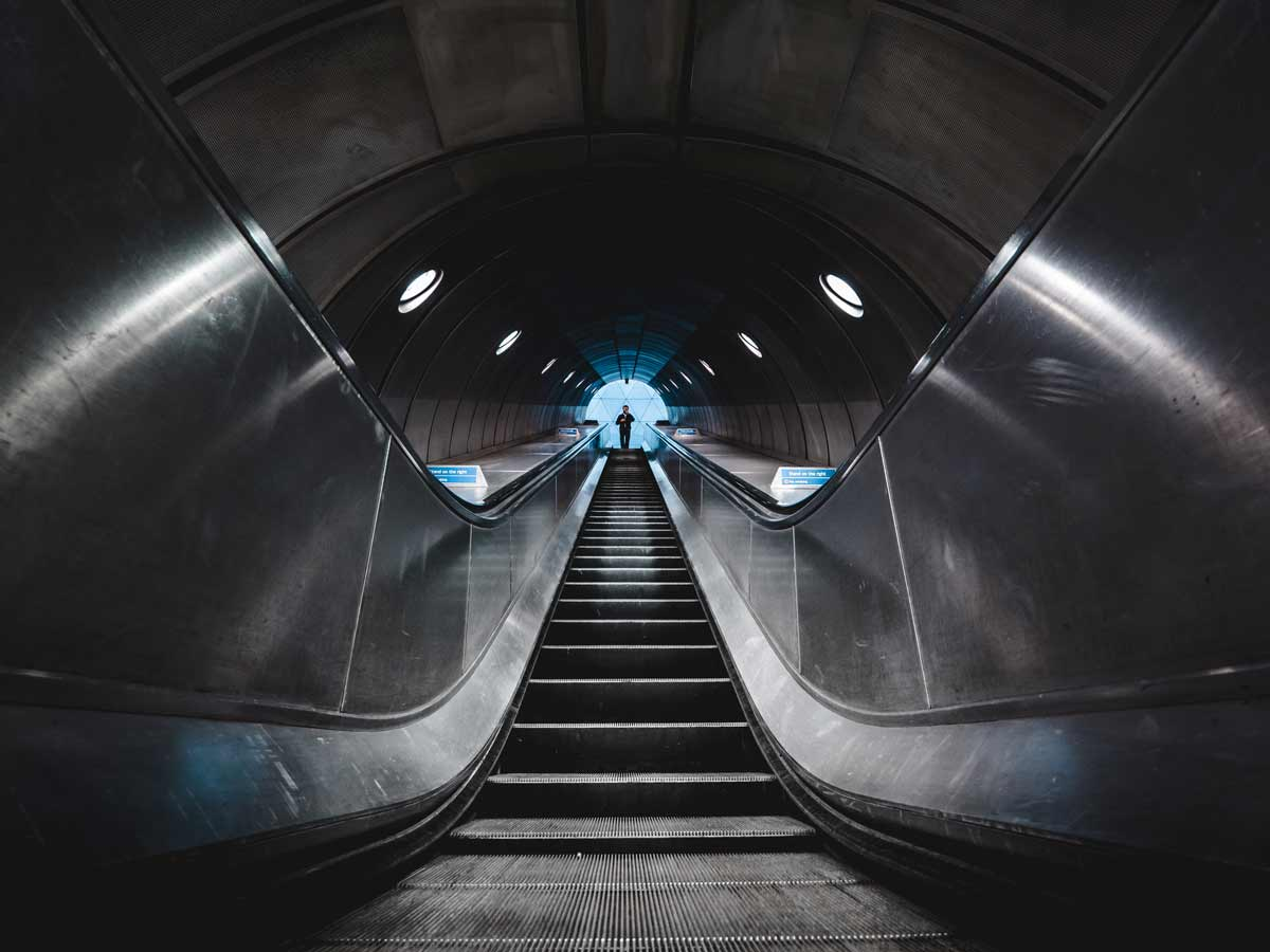 Rolltreppe---London