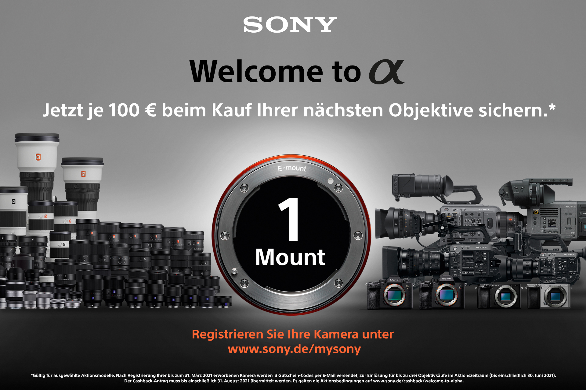 Foto Meyer Berlin Cashback und Sparaktionen:  SONY WELCOME TO ALPHA
