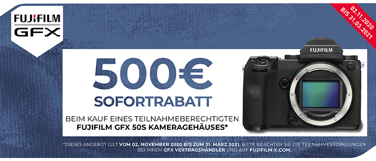 Foto Meyer Berlin Cashback und Sparaktionen:  FUJIFILM GFX 50 S SOFORTRABATT