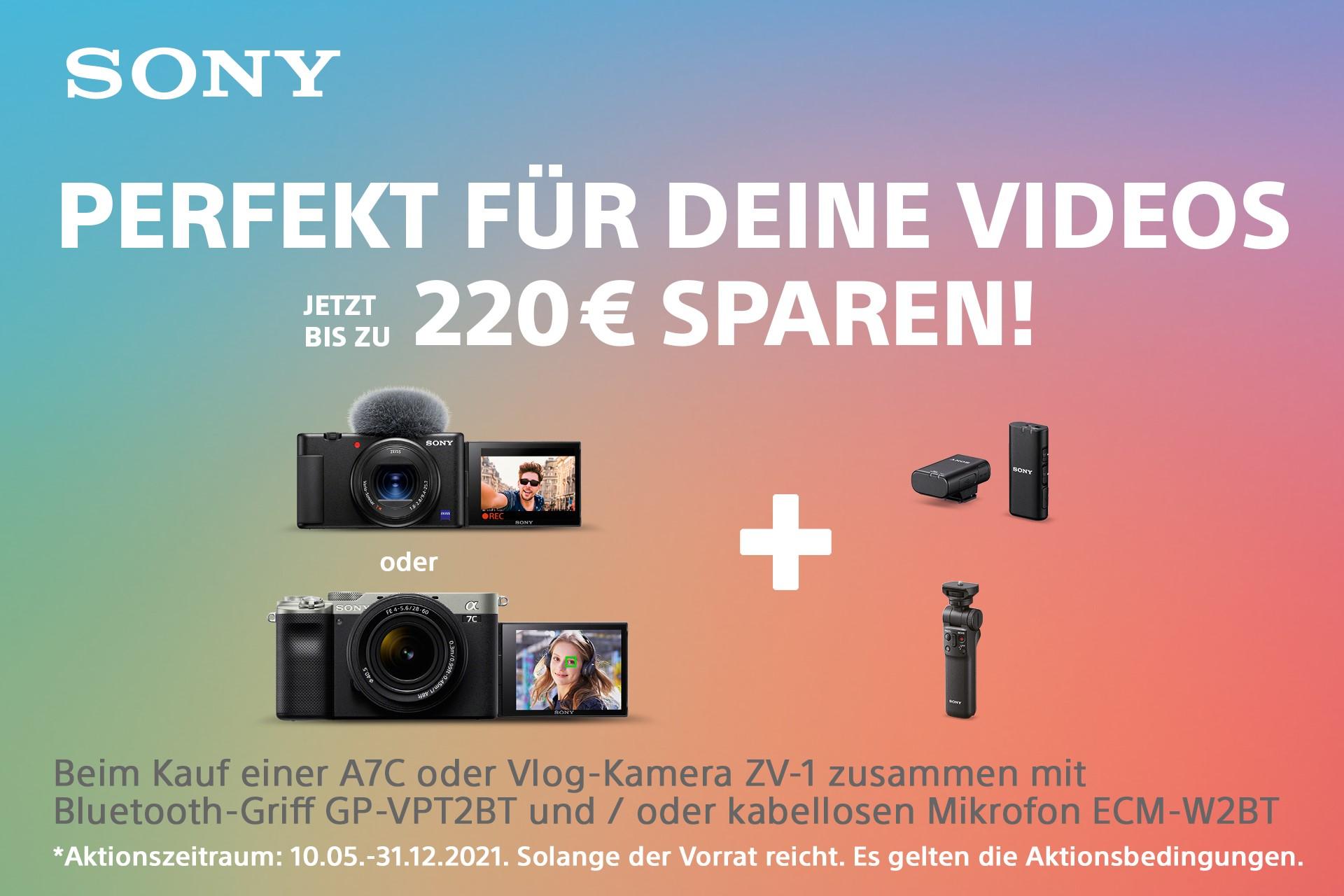 Foto Meyer Berlin Cashback und Sparaktionen:  SONY VLOGGUNG BUNDLE BONUS