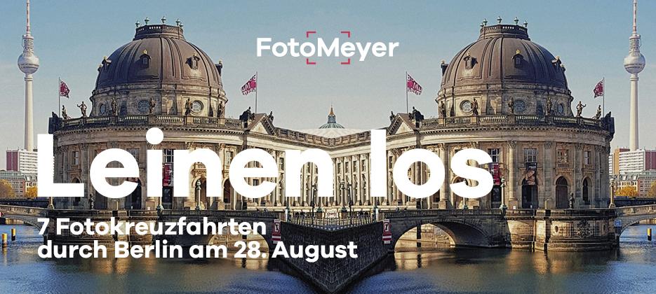 LEINEN LOS - Fotokreuzfahrten durch Berlin am 28. August 2021